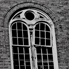 Broken Window by Martin Stepalavich - Buildings & Architecture Decaying & Abandoned (  )