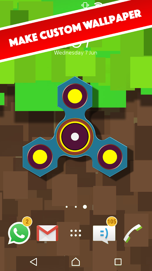Fidget Spinner Live Wallpaper (PRO)- screenshot