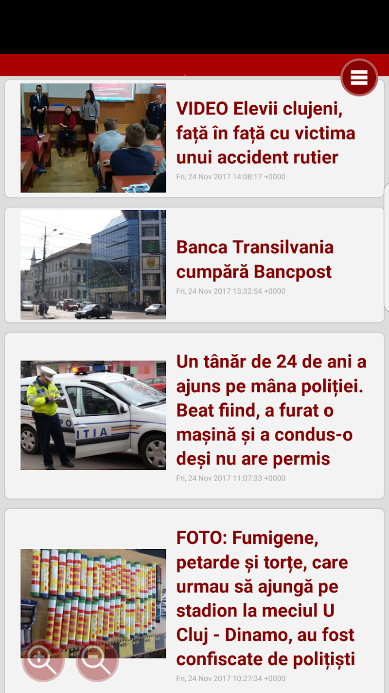 Скриншот Stiri din Cluj