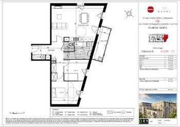Appartement 3 pièces 77,8 m2