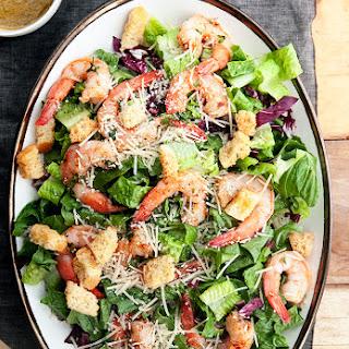 Garlic Shrimp Caesar Salad.