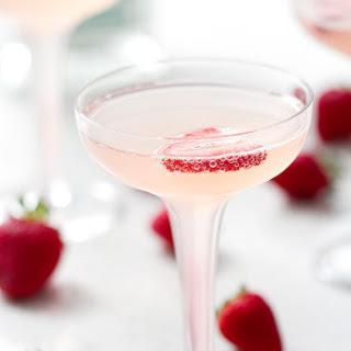 Strawberry Rhubarb French 75.