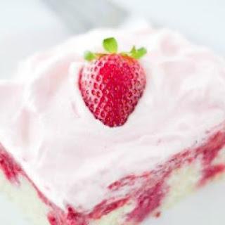 Real Strawberry Poke Cake.