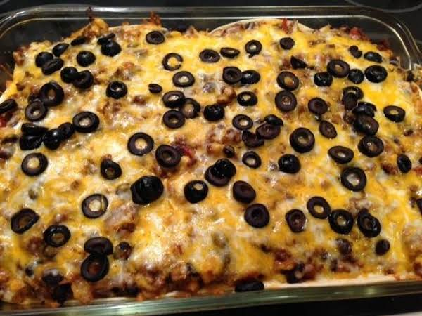 Taco Lasagna Casserole Ole'! Recipe