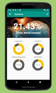 Places Been - Travel Tracker App Screenshot