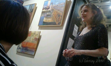Photo: Grateful to be in the art world and for the people I meet. Here it is Amy the gallery owner.