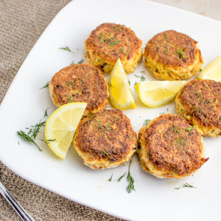 Easy Crab Cakes Stuffed With Smoked Salmon.