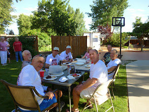 Photo: Day 8 Baker OR to Fruitland ID 84 miles 2180 ' climbing  :dinner with the Vandebergs of Neat Retreat RV