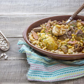 Slow Cook Lamb, Sausage and White Bean Cassoulet.
