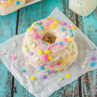Baked Donuts with Vanilla Glaze.