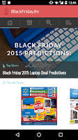 Screenshot of Black Friday 2015 Ads App
