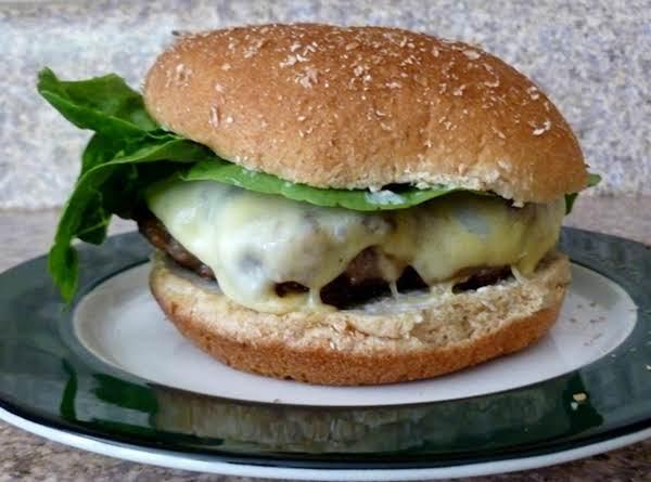 Beefy Onion Gouda Burger