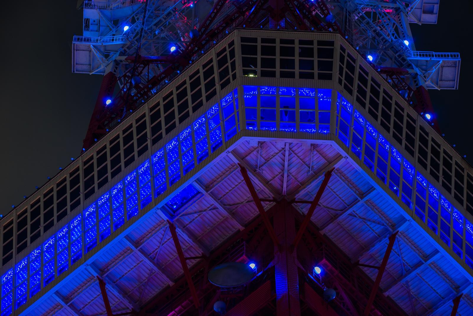 Photo: 青いタワー Blue Tokyo Tower.  赤いタワーが アクアブルーに輝き 夏の夜に 涼しげな気持ちにさせてくれました。  Tokyo Tower (東京タワー:ダイヤモンドヴェール) #cooljapan #tower #nikon #sigma #東京フォト #tokyophoto  Nikon D800E SIGMA 150-600mm F5-6.3 DG OS HSM Contemporary