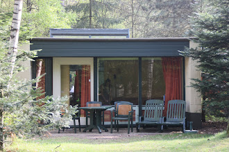 Photo: May 2013: Our cottage at vacation park Centerparcs Meerdal in America (NL)