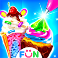 Ice Cream Cone Cupcake-Bakery Food Game