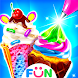 Ice Cream Cone Cupcake-Bakery Food Game