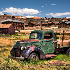A Town Gone By by Clyde Smith - City,  Street & Park  Historic Districts ( abandon truck, vehicle, ghost town,  )