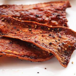 "Crispy Vegan Smoked Mushroom ""Bacon"""