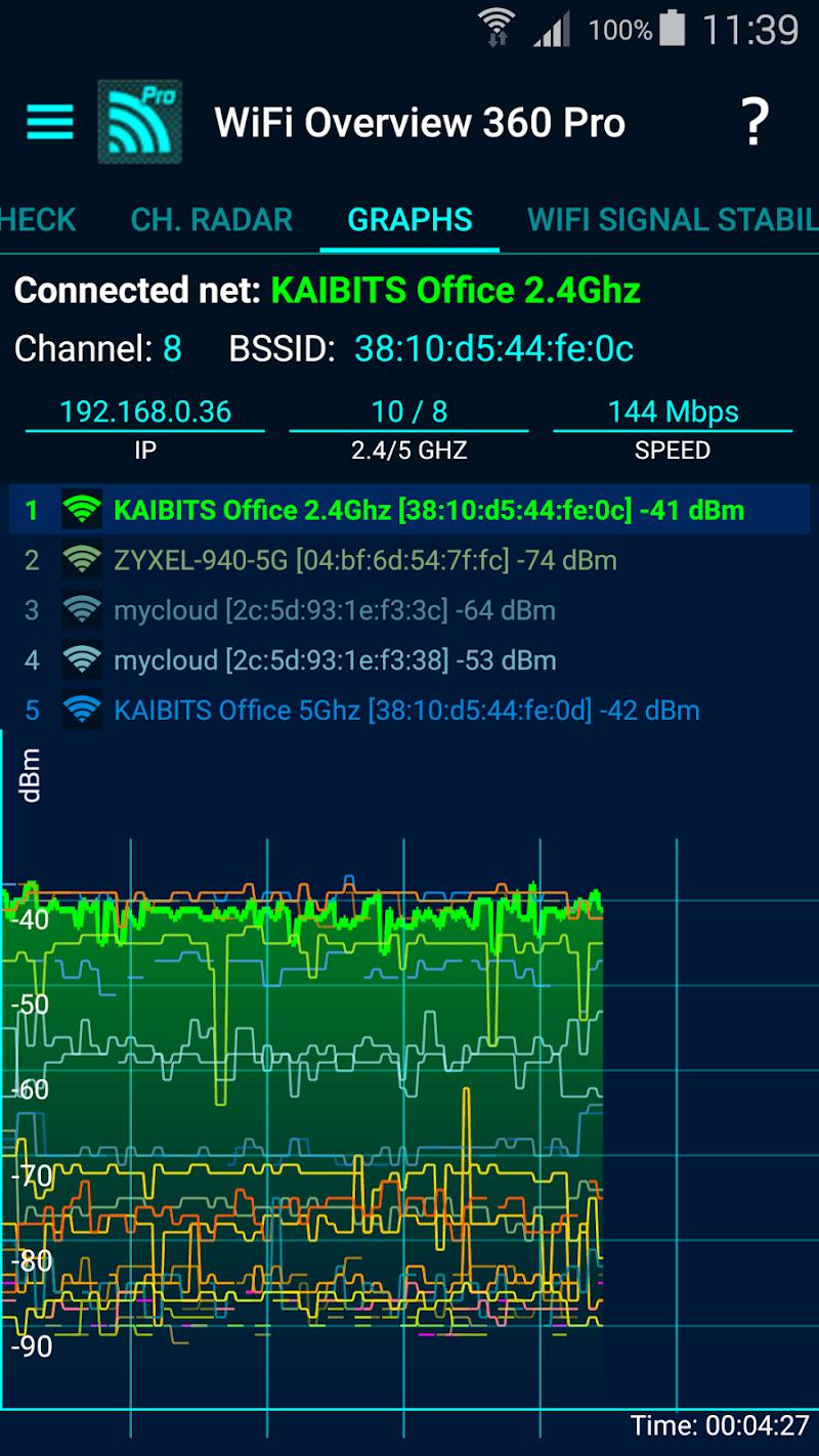 WiFi Overview 360 Pro Screenshot 4