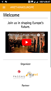 RETHINKEUROPE ConferenceApp - náhled