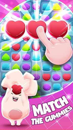 Gummy Dash Match 3 Puzzle Game  captures d'écran 1