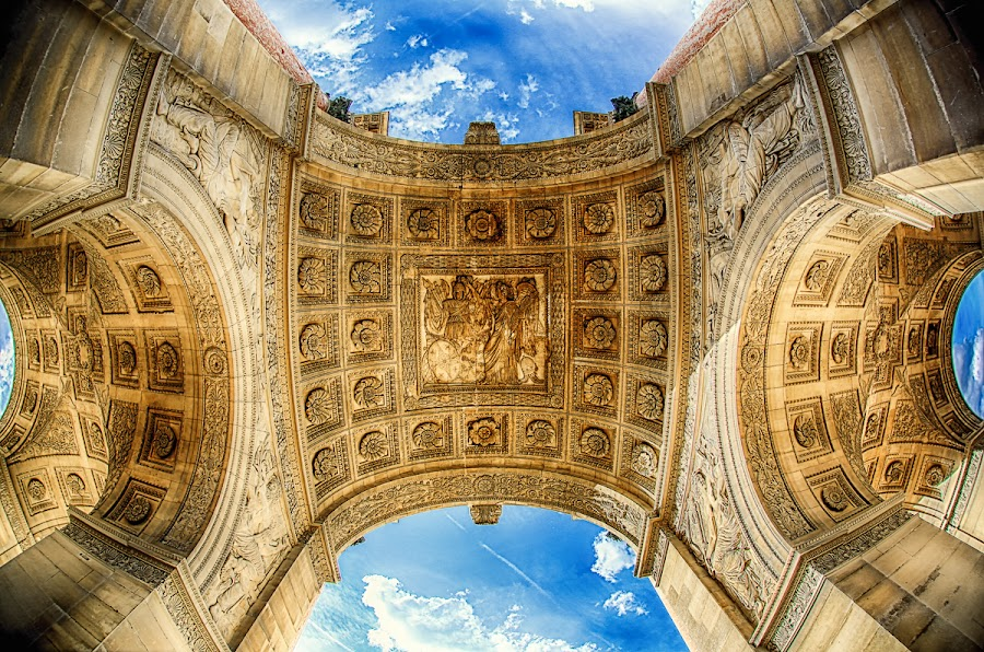 Arch Detail by Luca Libralato - Buildings & Architecture Statues & Monuments ( paris, famous landmarks, louvre, arch, france, monument )