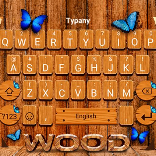 Butterfly Wood Board Keyboard