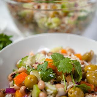 Basmati Rice and Black Eyed Pea Salad.