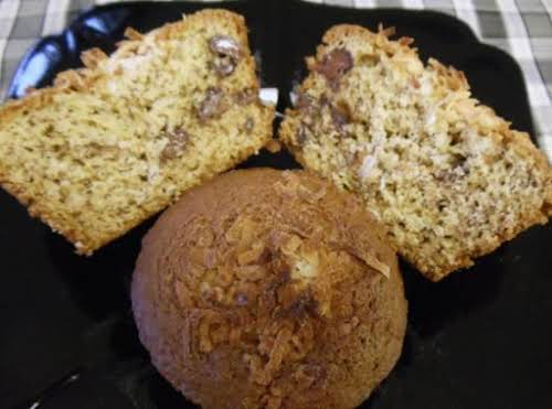 "Banana Chocolate Chip Muffins with Coconut ""I just have to say, I..."