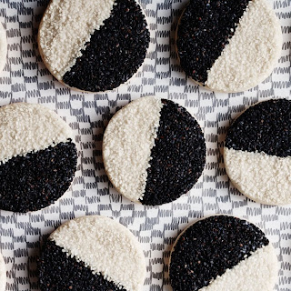Black and White Sesame Seed Cookies.