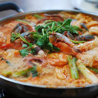 Haemul Jeongol (Spicy Seafood Hot Pot).