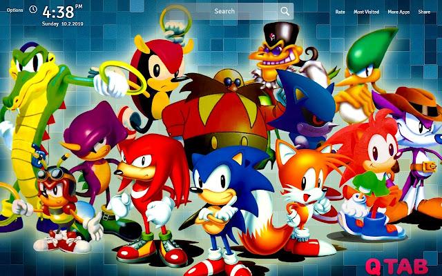Sonic the Hedgehog Wallpapers Theme New Tab