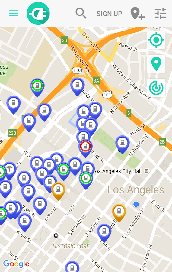 ChargeHub Find EV Tesla Charging Stations Android Apps On - Electric charging stations in us map