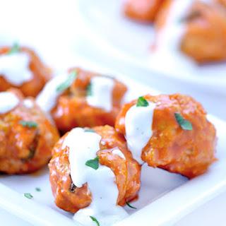 Easy Buffalo Chicken Meatballs.
