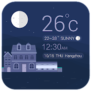Weather clock widget free  Icon