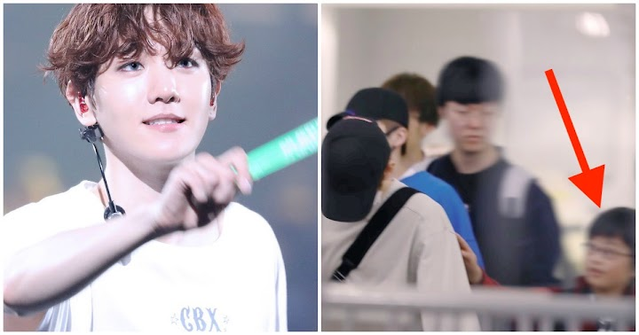 A Little Boy Approached Baekhyun At The Airport And Nobody