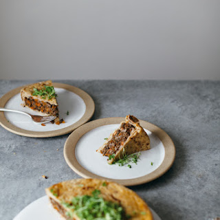 Spiced Beef Matzoh Pie