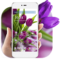 HD Purple Tulip Wallpaper icon