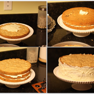 Blondie Layer Cake with White Chocolate Icing