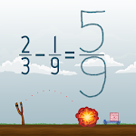 Subtract Fractions Math Game Icon