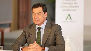 El presidente andaluz, Juanma Moreno, se muestra optimista.