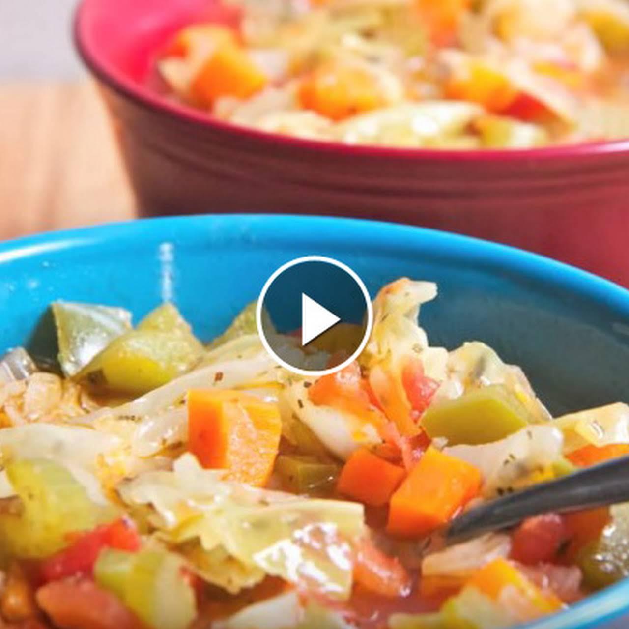 10 lbs In 1 Week Cabbage Soup Diet Recipe AKA  surprise Soup