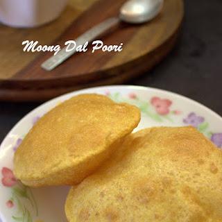 Moong Dal Poori / Moong Dal Puri Recipe