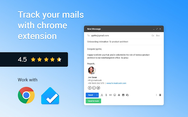 Mailcastr - Email tracker for free
