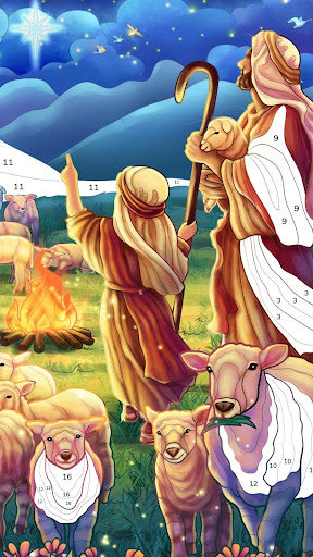 Bible Coloring - Paint by Number, Free Bible Games 2.5.2 screenshots 4