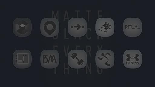 matte black icon pack screenshot 2