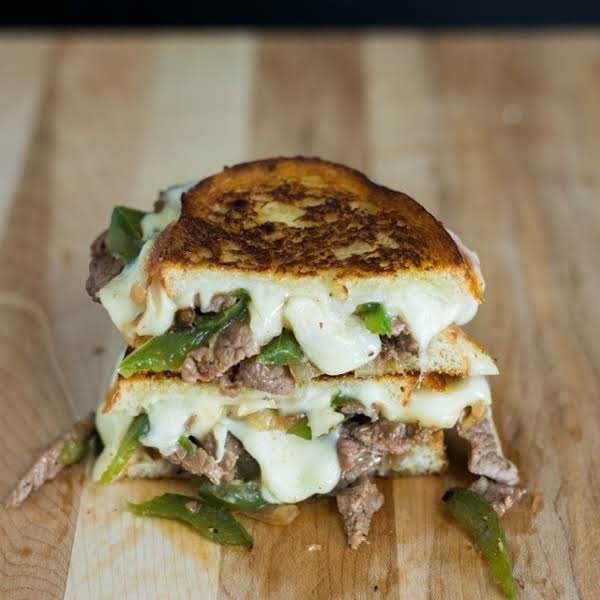Philly Cheesesteak Grilled Cheese Recipe