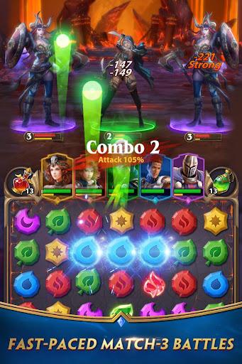 Deck Heroes: Puzzle RPG screenshot 1