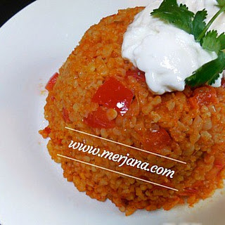 Turkish Bulgur Pilaf.