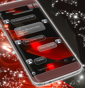 SMS Theme Red Black - náhled